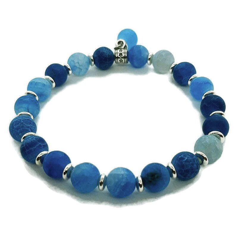 Kék achát karkötő