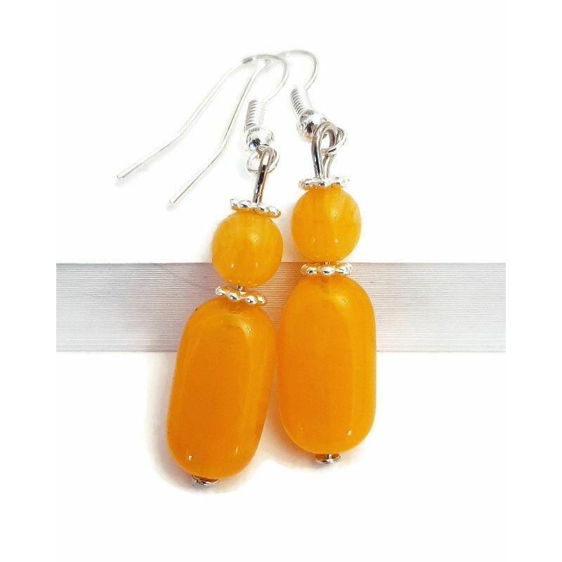 Narancstónusú fülbevaló