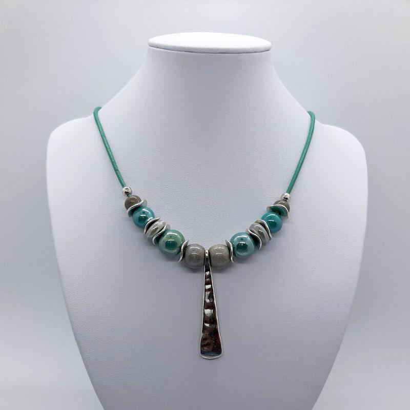 Türkizzöld kerámia nyaklánc