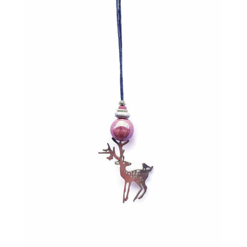 Barátságban a természettel: kerámia nyaklánc az állatok szerelmeseinek - mályva