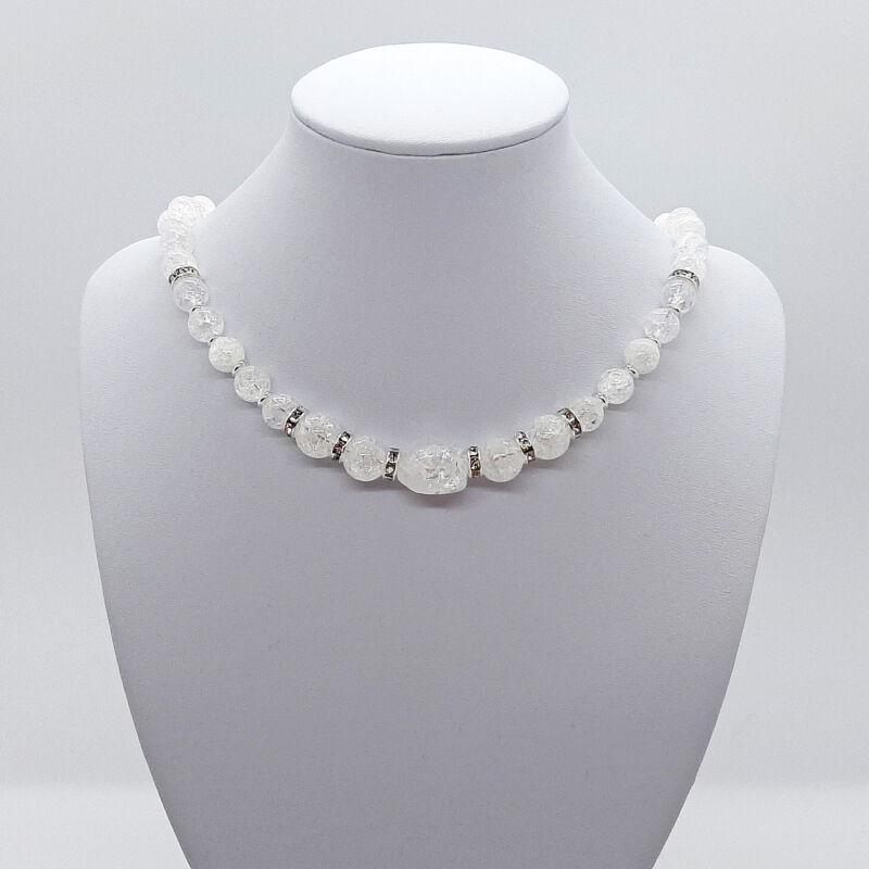 Jeges csillogás: ásvány rövid nyaklánc