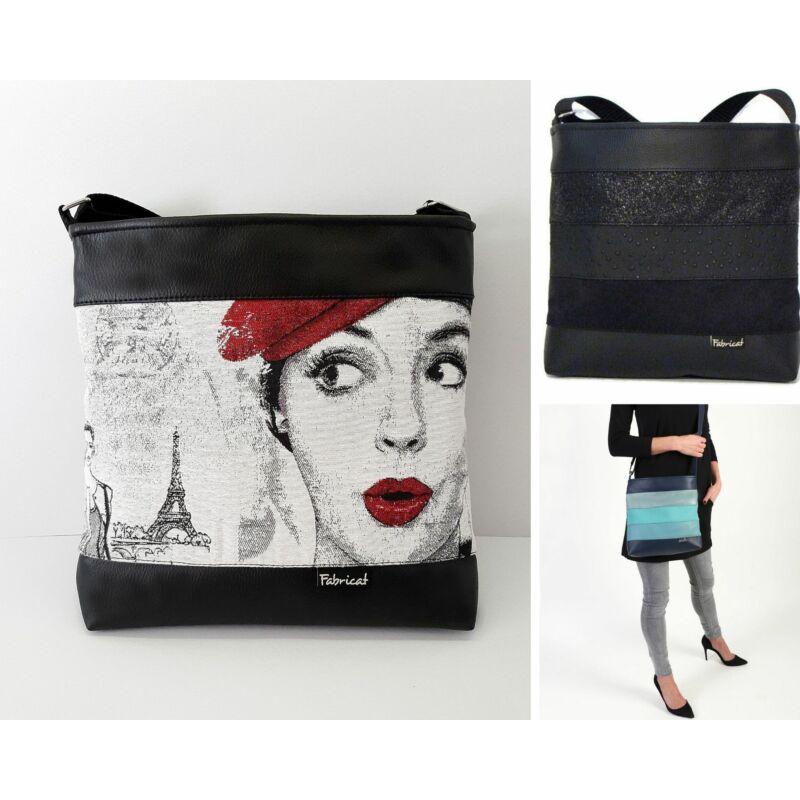 Közepes női táska: több színben és mintával
