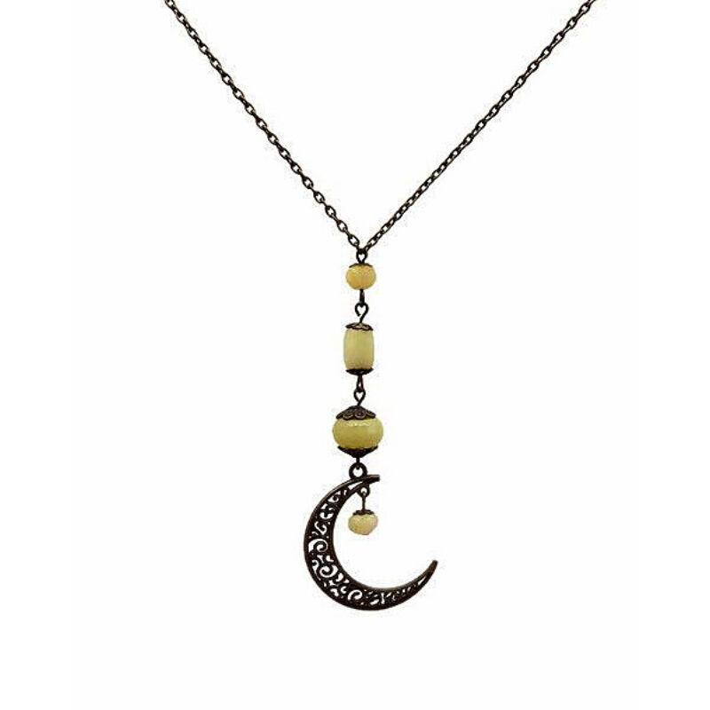A hold fénye: olív jáde ásvány ékszer szett