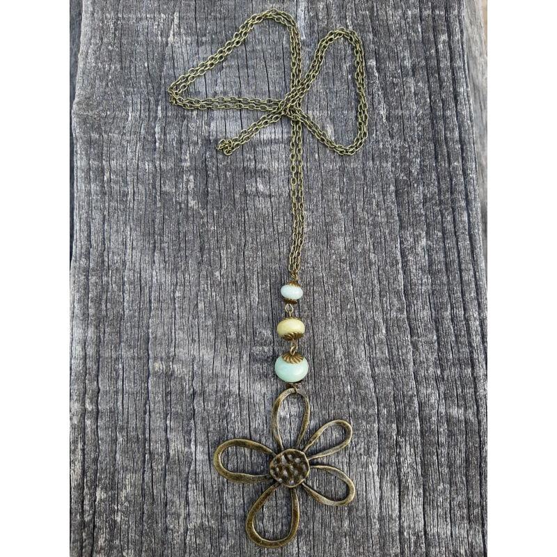 Őszikék amazonit ásvány nyaklánc
