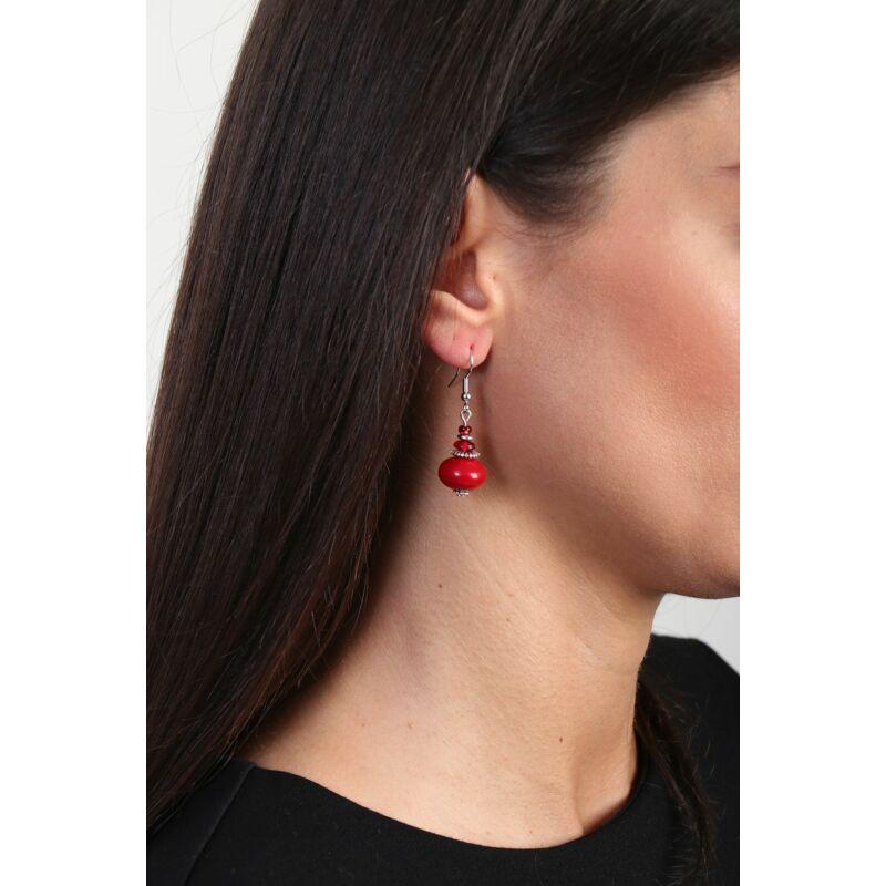 Piros csodás fülbevaló