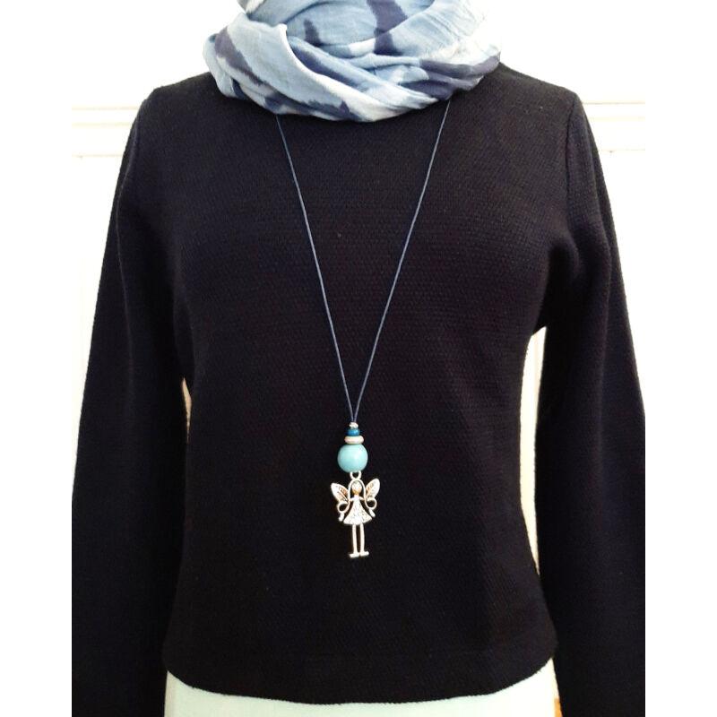 Angyali tánc: kerámia nyaklánc egyenesen az őrangyalodtól - kék