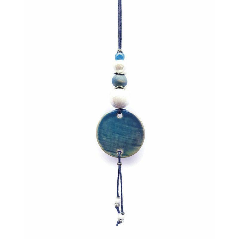 A minták színes varázsa: kerámia nyakláncok bohém lelkeknek - kék